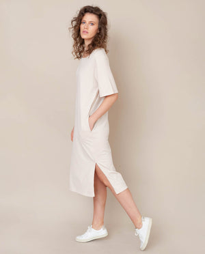 Ellie Organic Cotton Dress In Bone