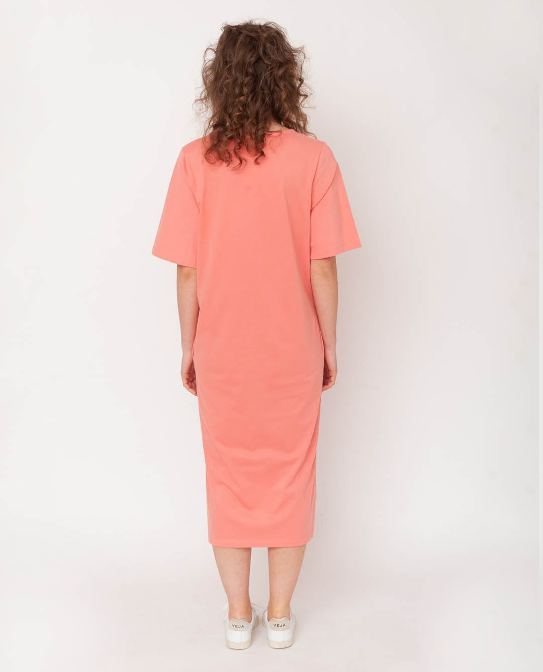 Ellie Organic Cotton Dress In Blush
