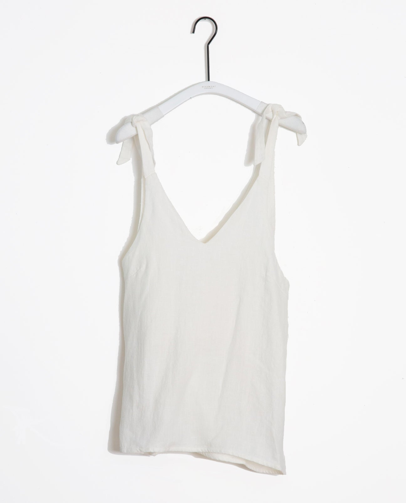 Emma-May Organic Cotton & Linen Top In Off White