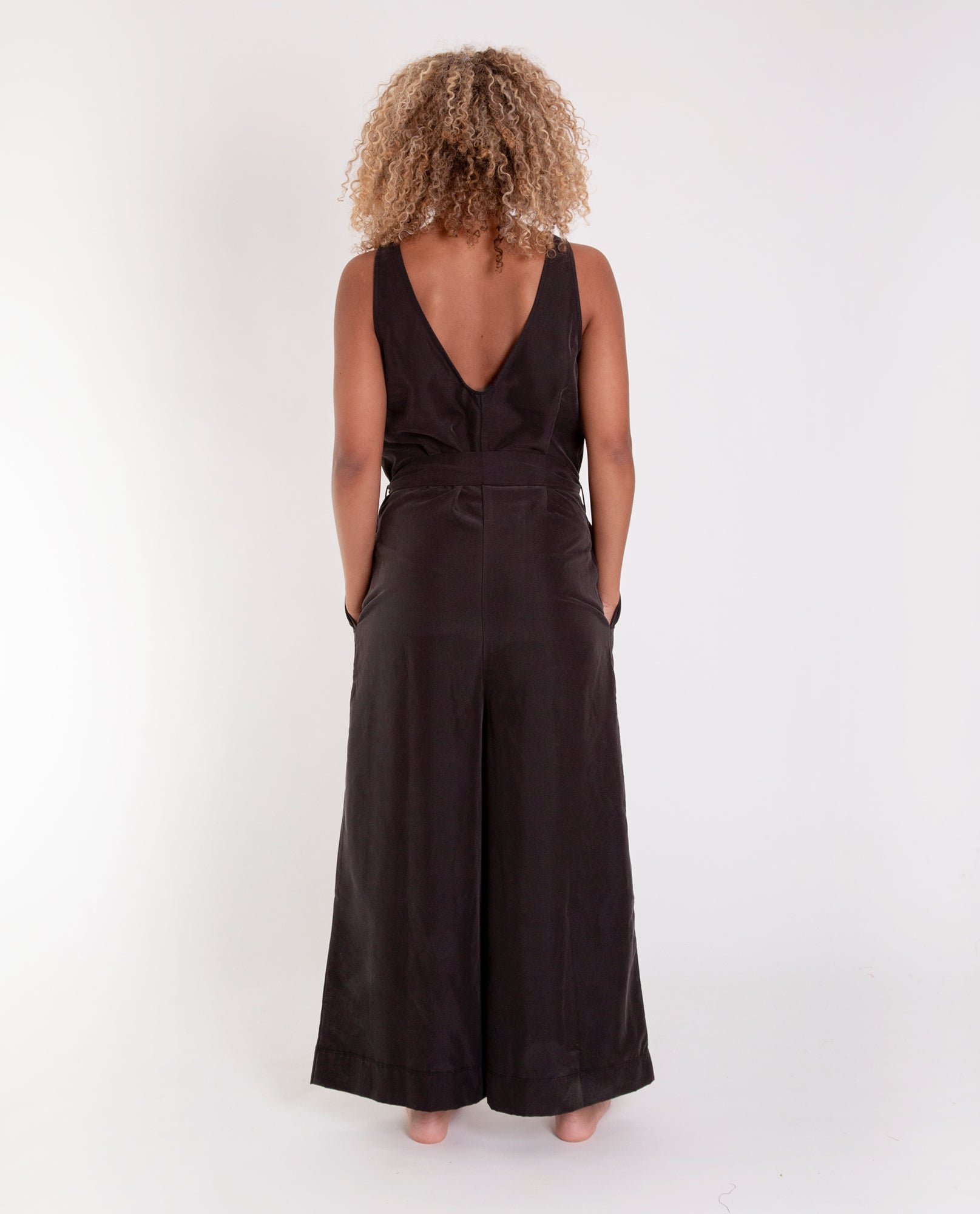 ESTELA-MARIA Modal Jumpsuit In Black