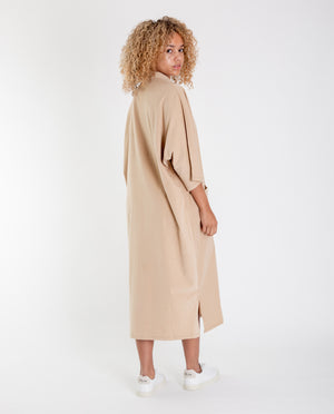 FERNANDA Organic Cotton Dress In Stone