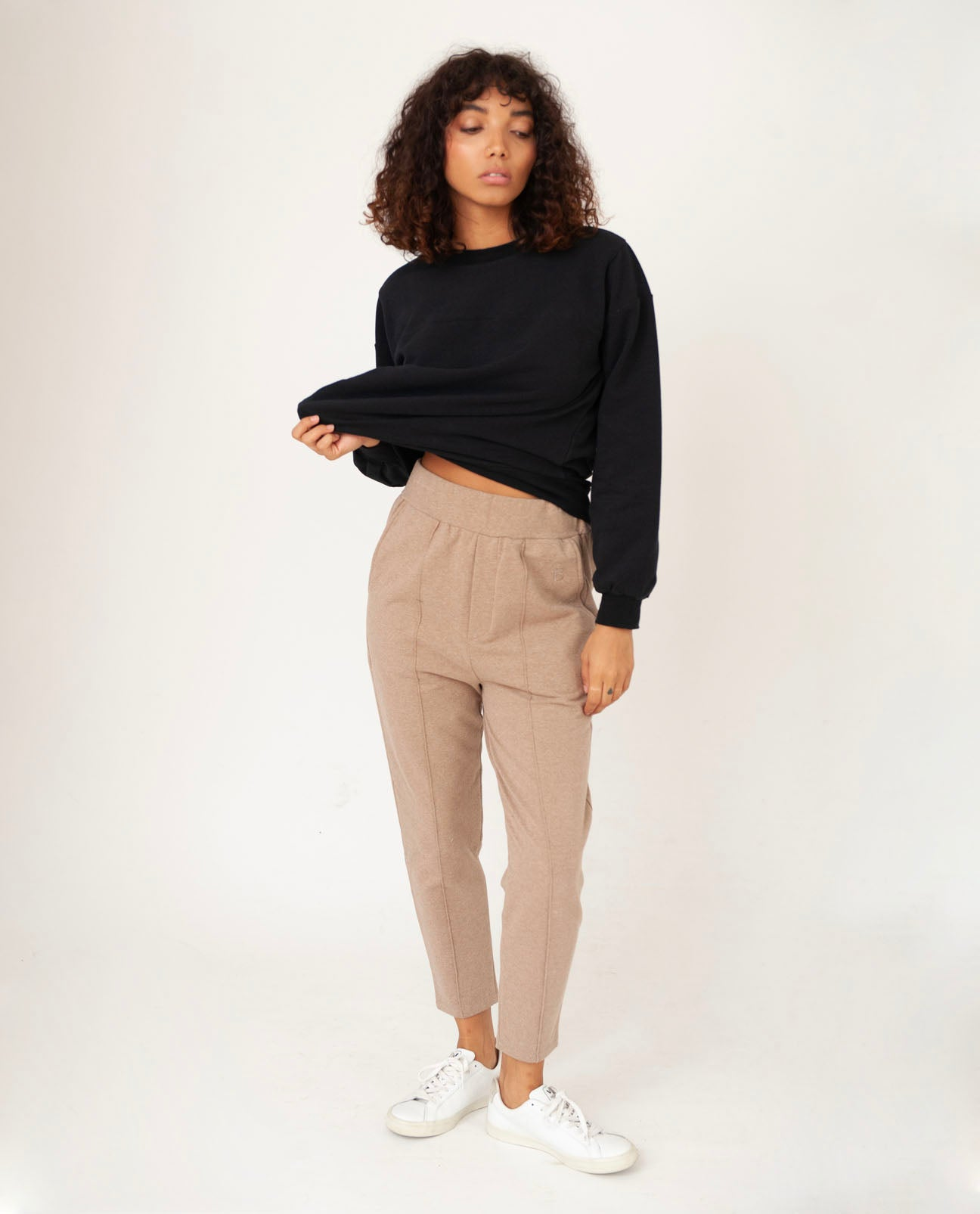 GEORGE Organic Cotton Trousers In Stone Marl