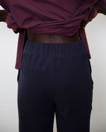 George Organic Cotton Trousers In Navy