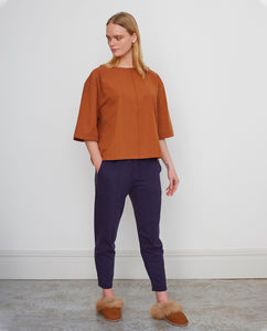 GEORGE Organic Cotton Trousers In Deep Indigo