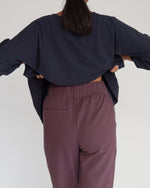 George Organic Cotton Trousers In Plum