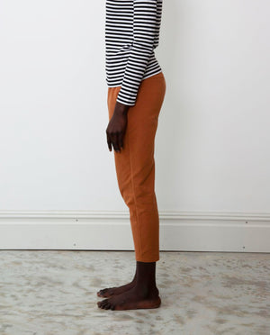 George Organic Cotton Trousers In Tan