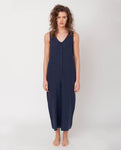 Gianna Linen Jumpsuit In Midnight