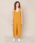 Gianna Linen Jumpsuit In Sun