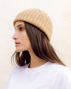 Glenda Lambswool Hat In Brown Sugar