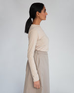 Halle Organic Cotton & Tencel Skirt In Taupe