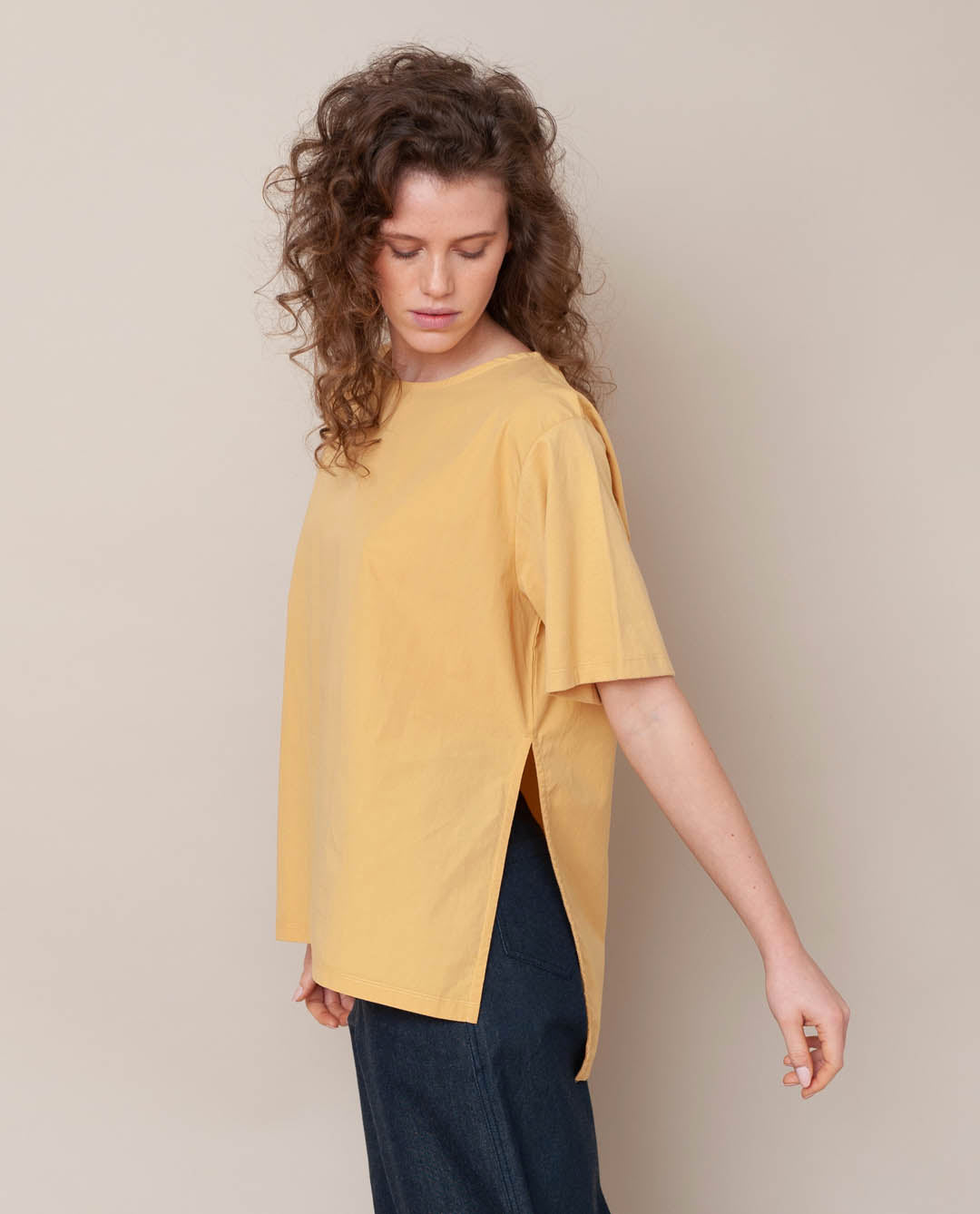 Hayley Organic Cotton Top In Honey