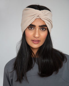 Anjalina Organic Cotton Headband In Sand