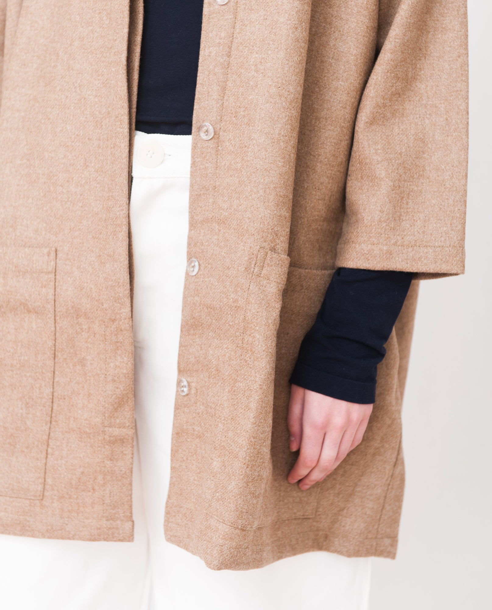 HETTY Wool Coat In Tan