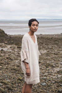 Bee-May Linen Dress In Sand