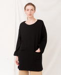 IDA Organic Cotton Sweatshirt Dress In Black