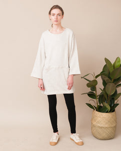 IDA Organic Cotton Sweatshirt Dress In Light Grey