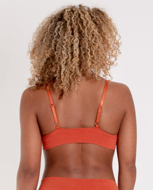 ILZE Organic Cotton Bra In Madder