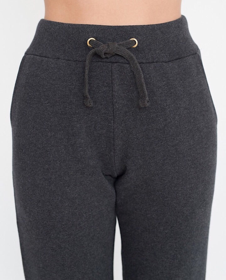 ISLA Organic Cotton Trousers In Grey Marl