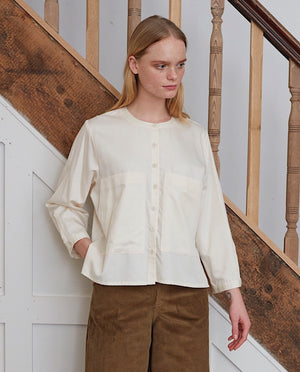 BONNIE-LOU Organic Cotton Shirt In Natural