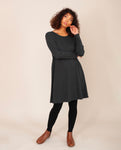 IRIS Lyocell Jersey Dress In Grey Marl