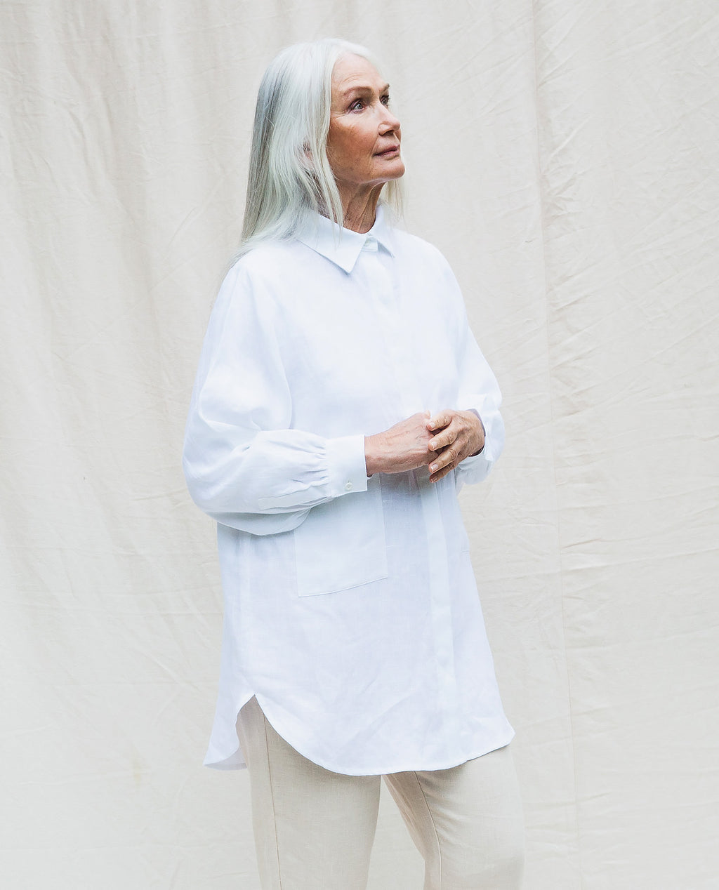 Jacqueline Linen Shirt In White