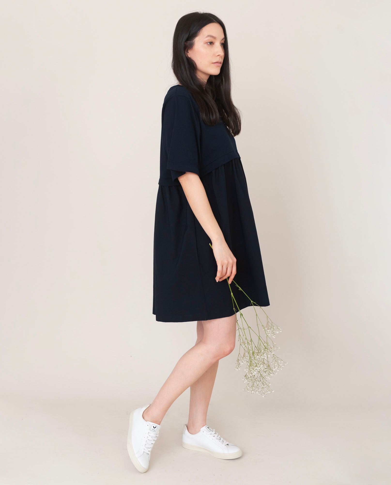 JAINA Organic Cotton Dress In Deep Indigo