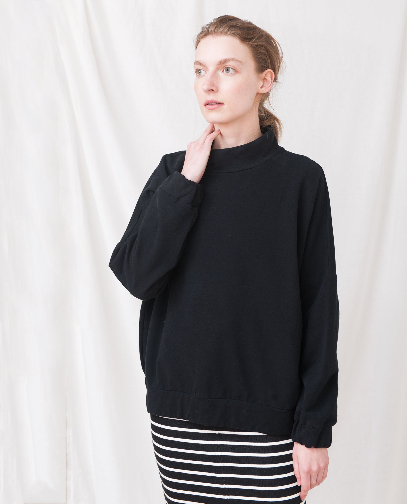 JORDAN Organic Cotton Sweatshirt In Black