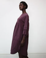 Joselyn Organic Cotton Dress In Plum