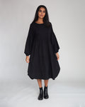 Joselyn Organic Cotton Dress In Black