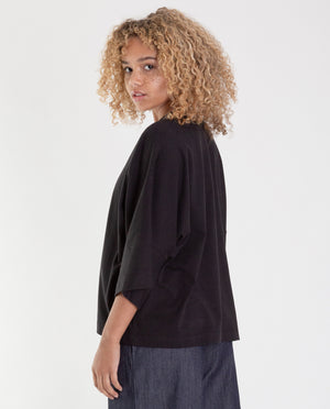 JULIA Organic Cotton Top In Deep Indigo