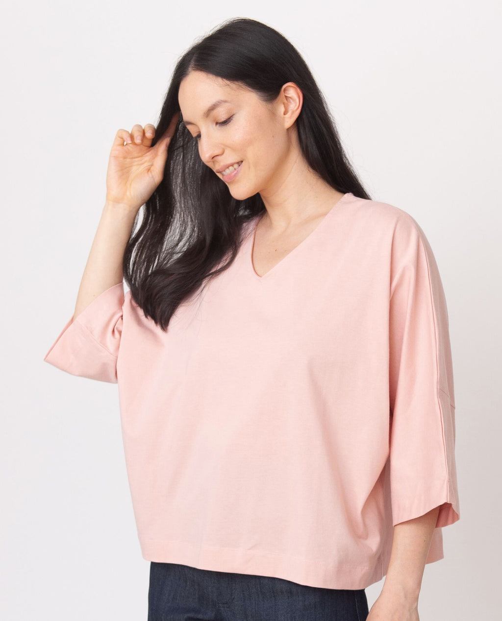 JULIA Organic Cotton Top In Coral