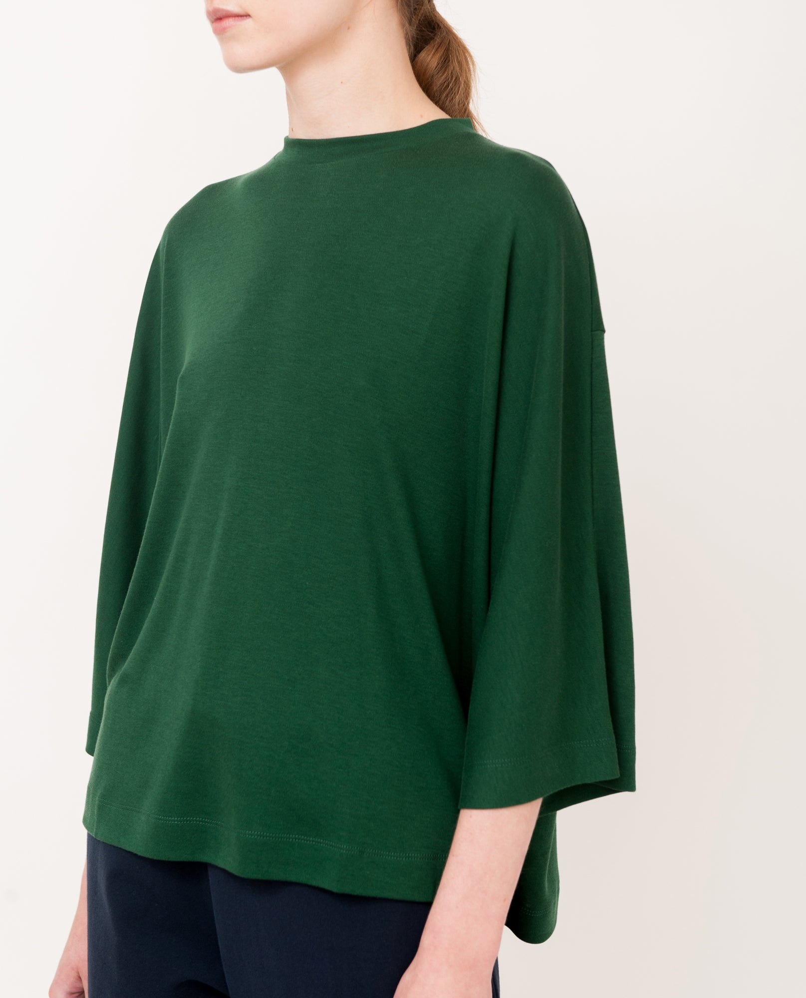 JULIE Lyocell Top In Evergreen