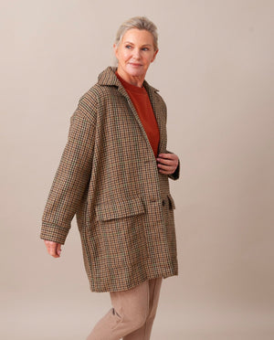 JUNE-ANN British Wool Jacket In Multi Check
