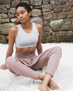 Kachina Organic Cotton Yoga Hareem Trousers In Rosewood