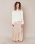 Kali Organic Cotton Skirt In Cream Print