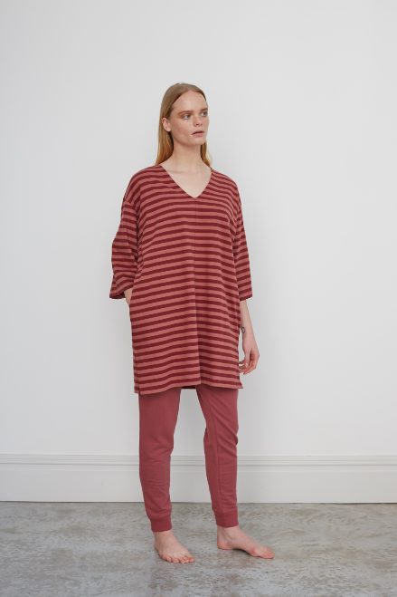 ZADIE Organic Cotton Trousers In Old Rose