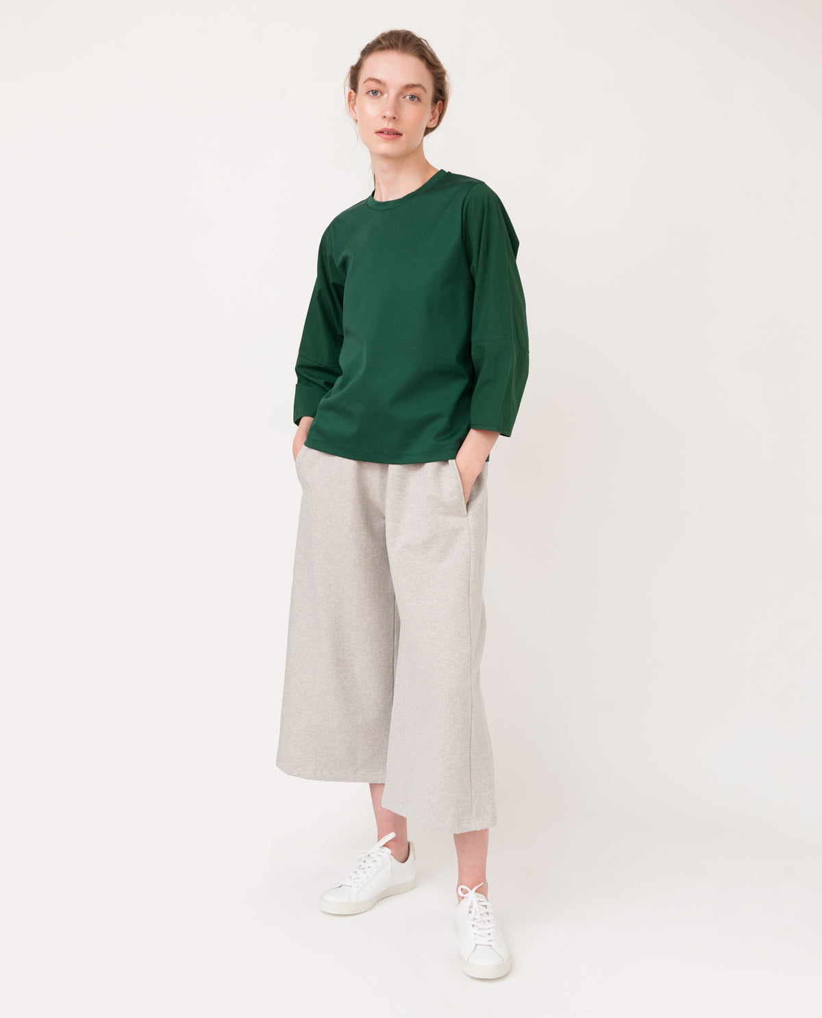 KYLE Organic Cotton Trousers In Light Grey