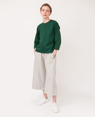 KYLE Organic Cotton Trousers In Grey Marl