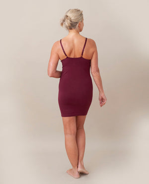 LANA Organic Cotton Slip In Burgundy
