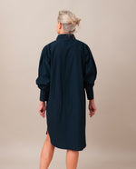 LARA Organic Cotton Dress In Deep Indigo