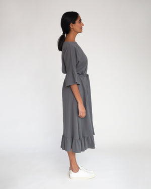 Lavinah Organic Cotton Dress In Charcoal