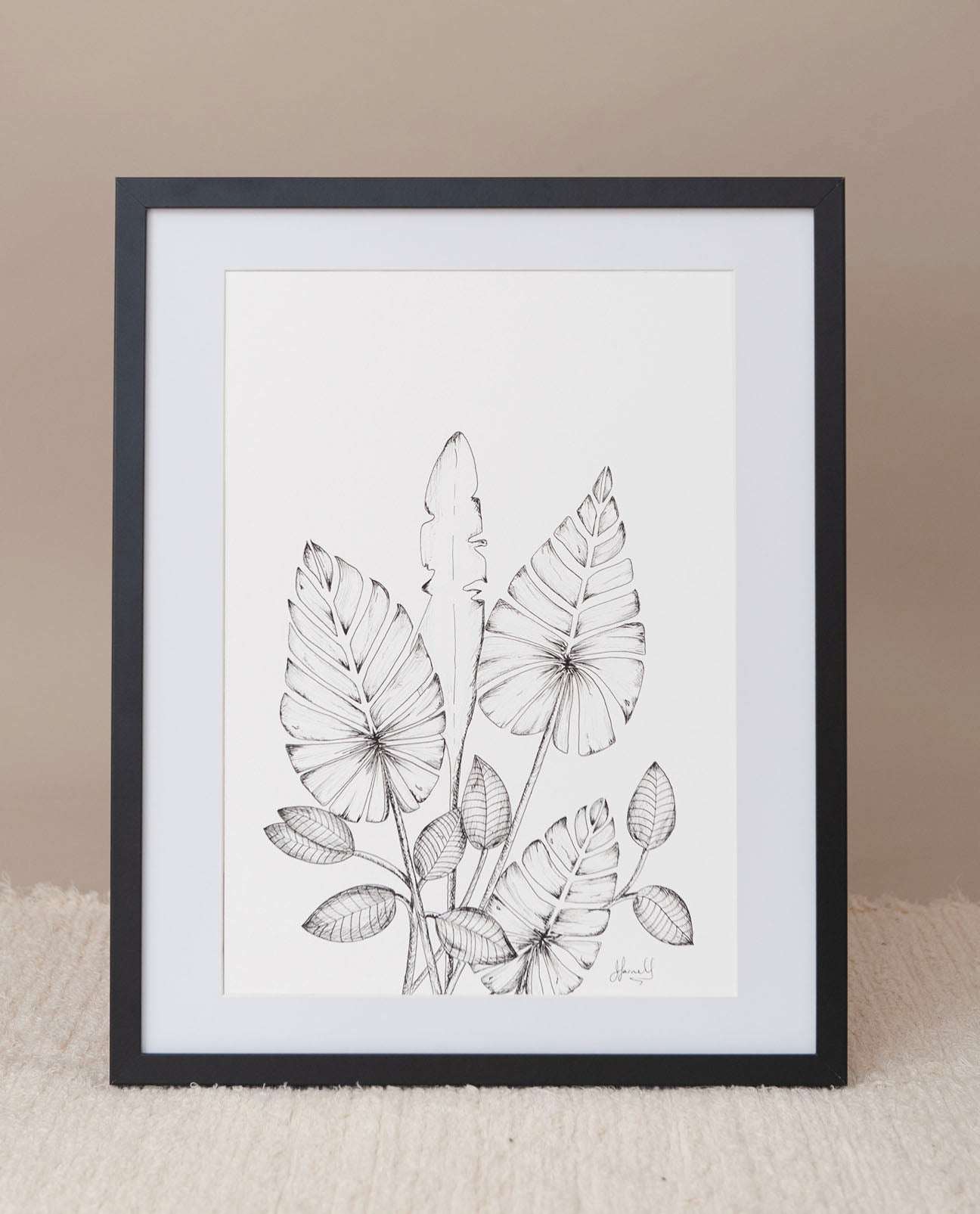 Leaf Risograph Print in Black