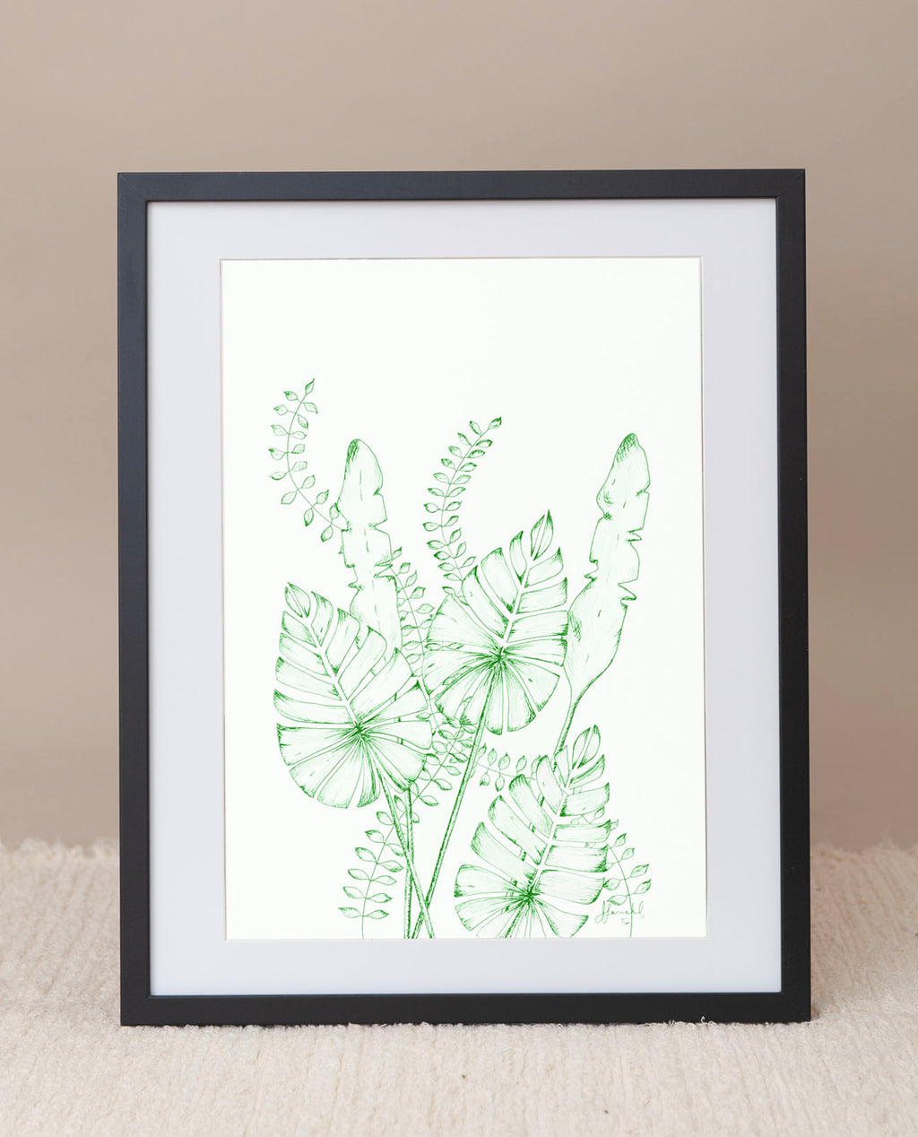 Leaf Risograph Print in Green