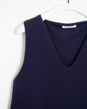 Lily Organic Cotton Top In Midnight
