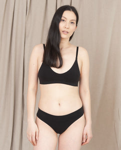 ILZE Organic Cotton Bra In Black