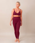 LISA Bamboo Leggings In Burgundy