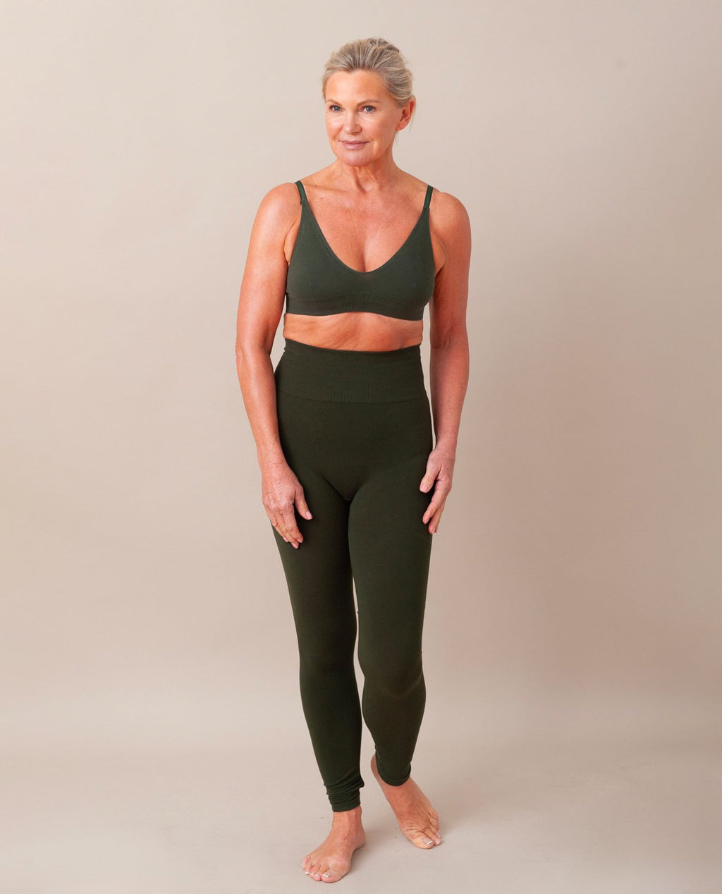 LISA Bamboo Leggings In Khaki