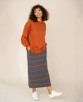 LOUISA Organic Cotton Top In Cinnamon