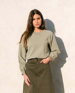 Louisa Organic Cotton Sweatshirt Pistachio