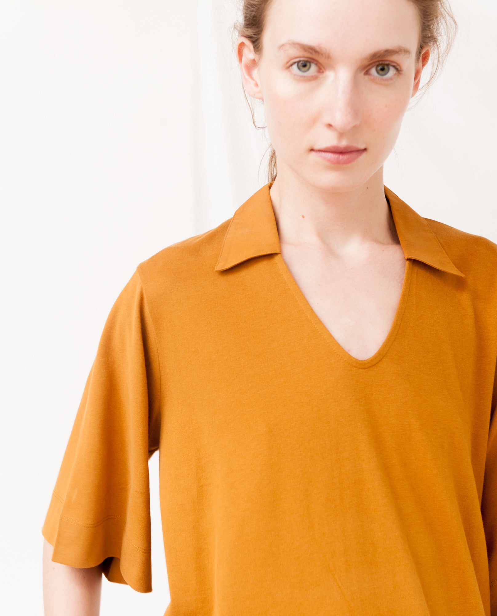 LUANA Organic Cotton Dress In Rust